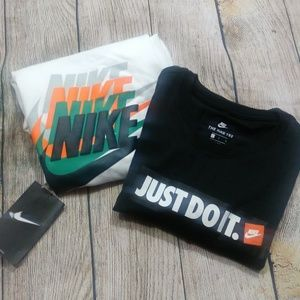 2 shirt bundle Nike Boys Size Large NWT